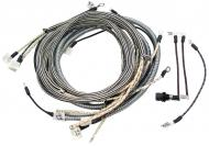 WIRING HARNESS  CLOTH COVERED LIKE ORIGINAL INCLUDES WIRING INSTRUCTIONS & LIGHT WIRES  USA MADE  International Applications: M W/ REGULATOR ON STEERING POST (UNDER FUEL TANK) (SN FBK 229911 & UP), EARLY SUPER M (SN F501 - F28174 AND SN L500001 - L504801 GAS) WITH BATTERY BOX UNDER FUEL TANK