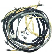 WIRING HARNESS  CLOTH COVERED LIKE ORIGINAL INCLUDES WIRING DIAGRAM & LIGHT WIRES  USA MADE  International Applications: SUPER H (SN 501 - 19233), HV (SN 501 - 19233)
