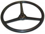 """STEERING WHEEL  16"""" DIA., 3 COVERED TO CENTER SPOKES  3/4"""" KEYED SHAFT  LIKE ORIGINAL, ALL NEW MATERIAL, STEEL SPOKES  International Applications: LATE O12 & O14, LATE I12 & I14, LATE W12, LATE W14, LATE F12, F14 (BOTH 1938-1939); EARLY A, AV, B, BN (TO MID 1940); WILL ALSO FIT LATE F20 & F30 (BOTH 1937) M, MD, MDV, MV, H, HV (1939-MID 1940) IF 16"""" DIA WHEEL IS DESIRED  Replacement Part #: 29118DC"""