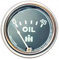 OIL PRESSURE GAUGE  45 LB GAUGE  SCREW IN TYPE  CHROME BEZEL  International Applications: CUB 1955 AND UP  Replacement Part #: 362177R92