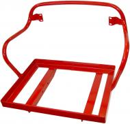 """DELUXE SEAT FRAME ONLY (CUSHIONS NOT INCLUDED)  POWDER COAT RED  19 1/2 """" WIDE, 14 1/2 """" DEEP  BACKREST HAS 16 1/2"""" C.C. HOLE PATTERN  International Applications: FOLLOWING WITH DELUXE SEAT: CUB & CUB LOBOY  Replacement Part #: 364399R91"""