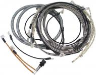 WIRING HARNESS KIT  CLOTH COVERED LIKE ORIGINAL, INCLUDES WIRING INSTRUCTIONS AND LIGHT WIRES. -- USA MADE  International Applications: H, HV (ALL SN 350954 & UP WITH REGULATOR UNDER FUEL TANK)
