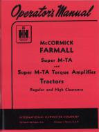 OPERATORS MANUAL  MADE IN USA  104 PAGES  LICENSED REPRINT OR ORIGINAL  International Applications: SUPER MTA GAS  Replacement Part #: 1004374