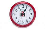 8.78in. dia. Wall clock, but with a red exterior.